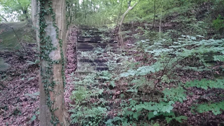 城下トンネル上部の謎の階段